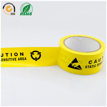 Caution Tape 1 Roll Thick 0.15mm Long 22m Yellow Antistatic Warnings PVC Thin Film Anti-static Area Tag Floor Adhesive