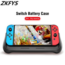 ZKFYS 10000mAh Power Bank Case For Switch Console With Holder Fast Charger External Battery Power Case For Nintend Switch NS NX все цены