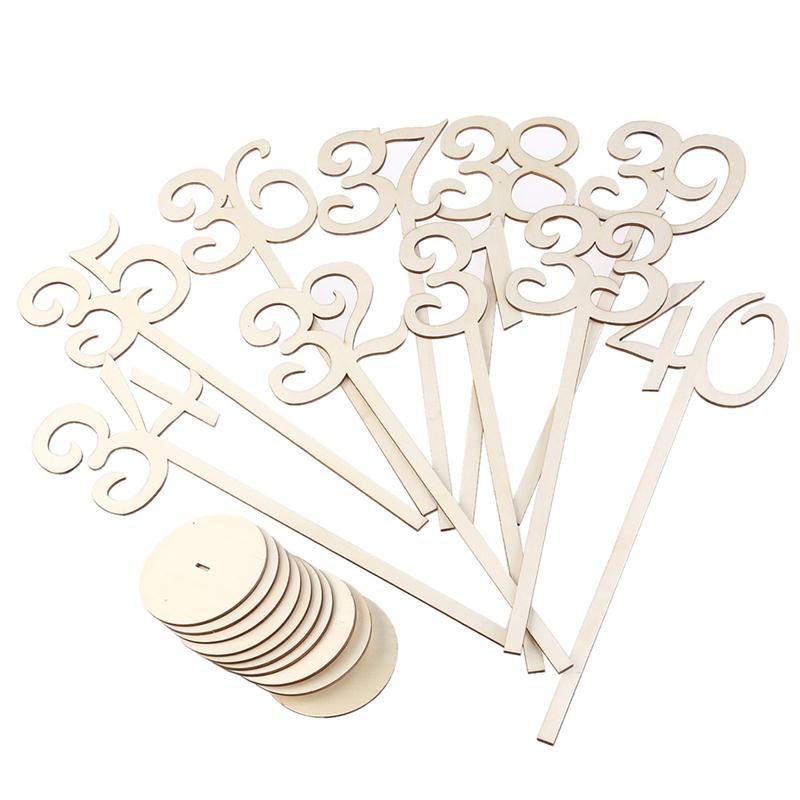 40 Pz 1 40 Numeri Da Tavolo FAI DA TE Dipinta Autoportante In Legno  Naturale Per La Festa Nuziale Decorazioni Tablescapes In 40 Pz 1 40 Numeri  Da Tavolo FAI ...