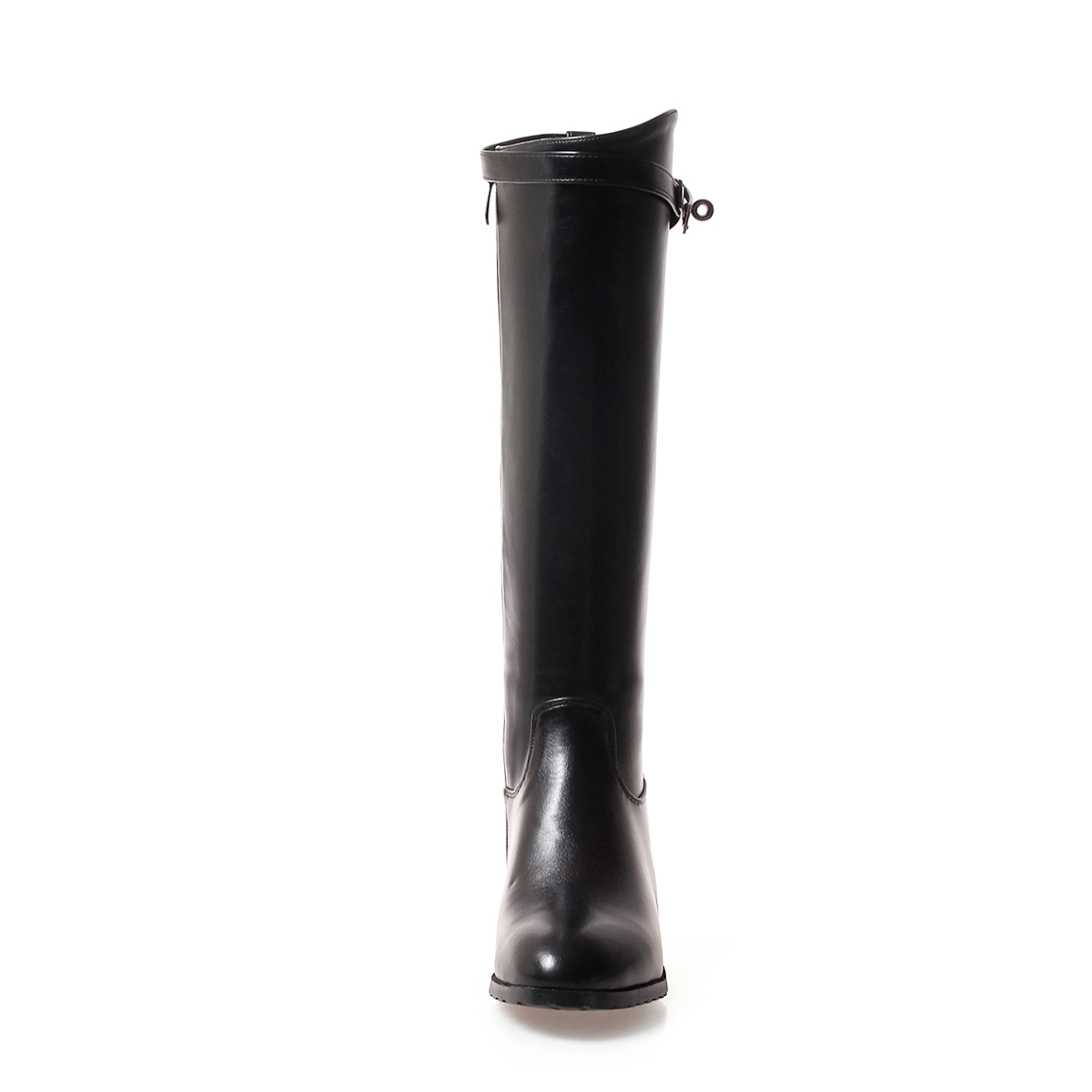 De Zapatos Las Caliente Pu 2018 Mujer Cuero Señoras Botas Planas Negro Tamaño verde La Mujeres 43 Zip Invierno Más Piel Altas Rodilla blanco ZZwrqdC