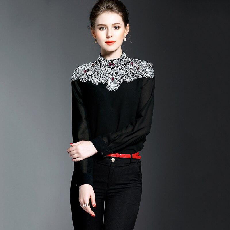 Para Camisa Acogedor Ambmcm Ropa De Casual 2018 Slim Las Color1 Cuentas Mujeres La Nueva Moda Promociones Blusa 66wTIxq4Z