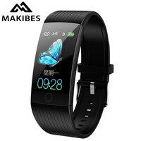 Makibes HR8 Smart Band 1.14Men Women Bluetooth Fitness Tracker Bracelet Smart Watch Blood Pressure color UI Wristband for Q18