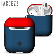 !ACCEZZ TPU+PC For AirPod Cover Case Protective Bluetooth Wireless Earphone Accessories Apple Air pods Headphone Headset Box