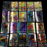 2017 NEW 60 Set Not Repeat English Flash Cards Sun Moon Card Battle GX Card Flash