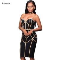 Sexy Spaghetti Strap Bodycon Midi Dress Women Summer Backless Geometric Print Knee Length Club Party Dresses vestidos mujer 2017