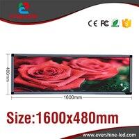Barato Al aire libre de color P5 tamaño de la pantalla LED 63 x 19 publicidad pantalla