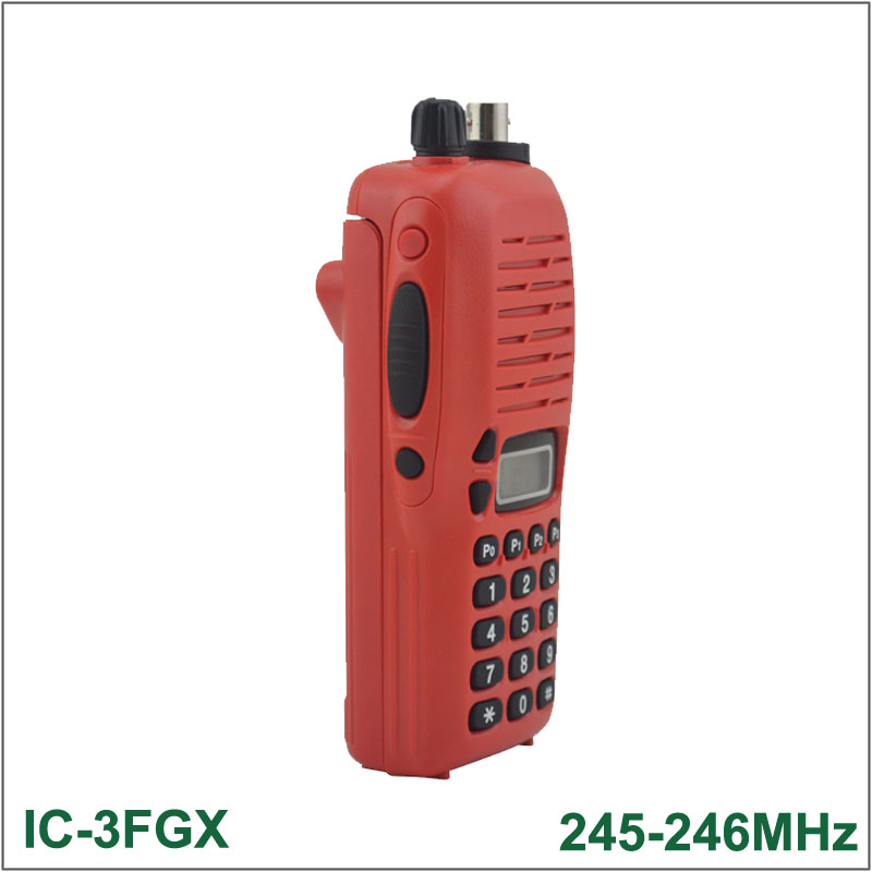 Brand New Walkie Talkie IC-3FGX 245-246MHz 100 Channels 5.5W 100 Channels DTMF Encoder FM Transceiver Two-way Radio(for Icom)