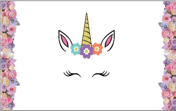 Unicorn Flowers Cake White Wall Baby Shower Backgrounds Vinyl Cloth High  Quality Computer Print Birthday Photo