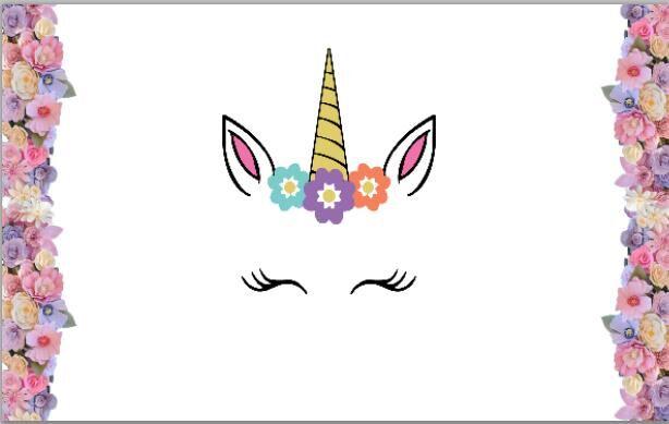 Buy Unicorn Flowers Cake White Wall Baby
