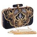 Vintage Embroidery Women Evening Bags Fashion Lady Handbags Metal Day Clutches Messenger Purse/Wallets
