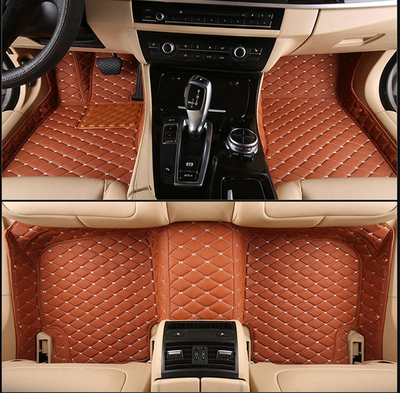 No Odor Full Covered Durable Waterproof Non Slip Carpets Special Car Floor Mats For Chrysler 300C Grand Voyager Most Models dedicated no odor carpets waterproof non slip durable rubber car trunk mats for toyotafj cruiser