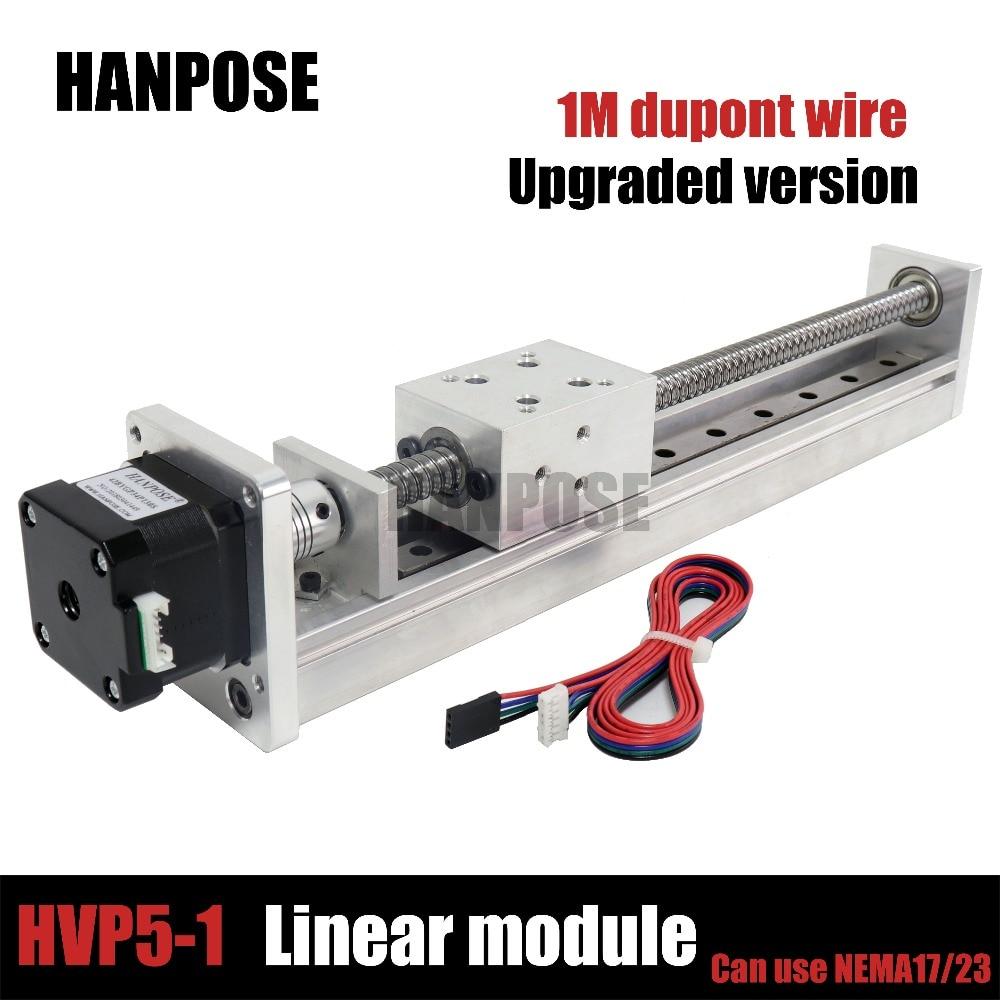 HPV5 version Améliorée Mini actionneur module Linéaire vis à billes sfu1204 avec NGM 42 moteur NEMA23 NEAM17 moteur pas à pas for3D imprimante