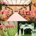 Hotsale! 10 m x 1.5 m Organza Tecido Sheers Capas De Cadeira De Casamento Branco Rolo de Tecido de Organza de Casamento Decoração Fontes Do Partido Do Evento