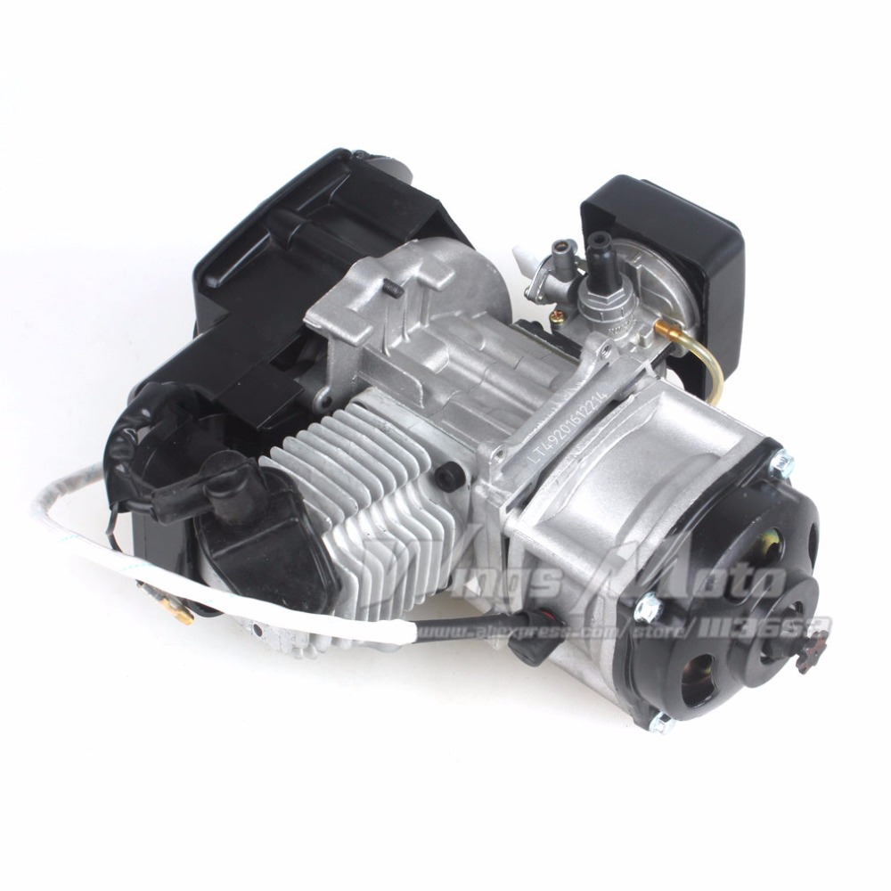 47CC 2-stroke Electric Start Engine Motor Pocket Mini Bike Scooter ATV 7T 25H Chain 40MM Bore ship from usa 2 stroke petrol gas bike engine diy bike bicycle motorize engine motor kit 26 or 28