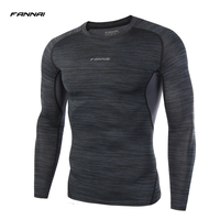Men Compression Shirt LS Fitness Long Sleeve Casual Tee Shirts Base Layer Skin Tight Clothes Thermal
