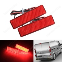 2x Red Lens Rear Bumper Reflector For Vauxhall For Opel Vivaro Movano A For Nissan Primastar