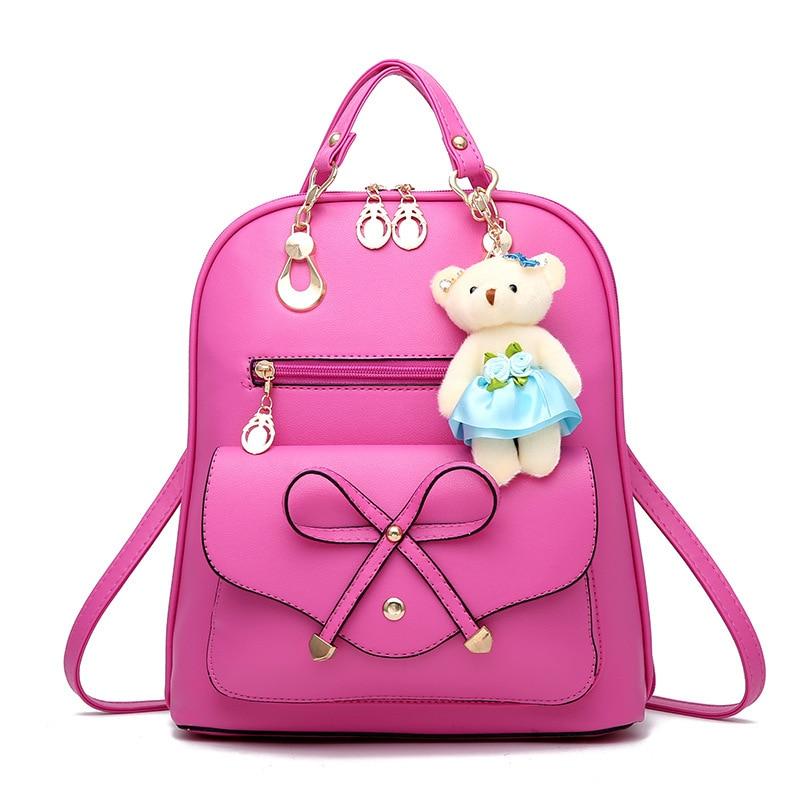 fashion women backpack multifunctional backpack ladies leather shoulder bag female Small Backpack Teenager Girls travel backpack