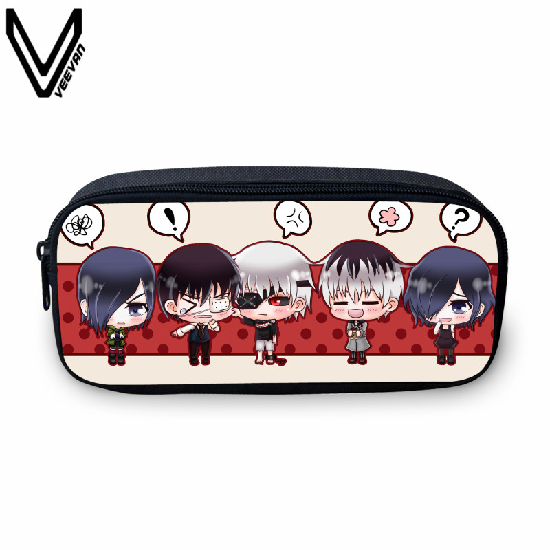 VEEVANV 2017 Cute Anime Tokyo Ghoul Pencil Case Bags Casual Cartoon Pencil Box Tokyo Ghoul Fans School Pen Box For Kids 2017 japan hot cartoon tokyo ghoul anime 3d jacquared students school backpack women bags large capacity men school bags mochila