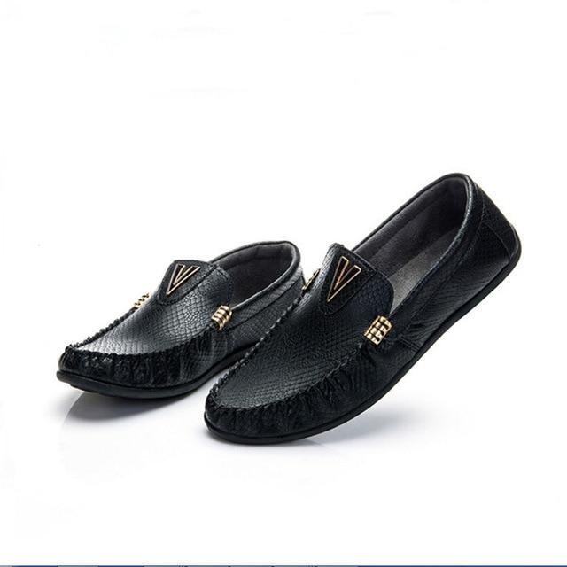 cf4d0759 2015- Mocasines modernos de meter el pie hechos a mano para hombre Zapatos  cosidos,