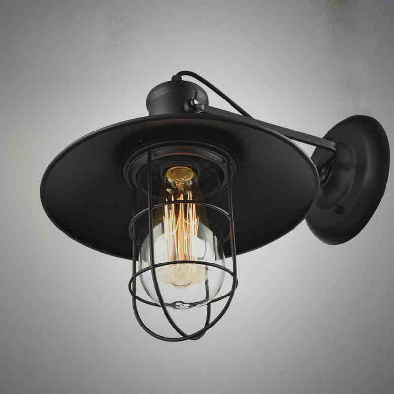 Loft ipari fali lámpatestek RH Vintage fali lámpa bár vendéglő - Beltéri világítás - Fénykép 2