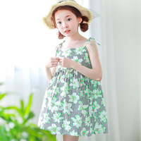 kids dresses for girls 6-15 years summer beach princes costume for girls green princess dress girl kids european style clothes