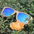 Natural De Madeira Dobradiça de Mola Óculos de óculos de Sol Dos Homens Das Mulheres Grife Polarizada óculos de Sol Espelho UV400 Gafas de sol Mujer Hombre
