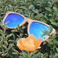 Natural Wooden Sunglasses Women Men Brand Designer Polarized Sun Glasses Spring Hinge Mirror UV400 Gafas De Sol Mujer Hombre