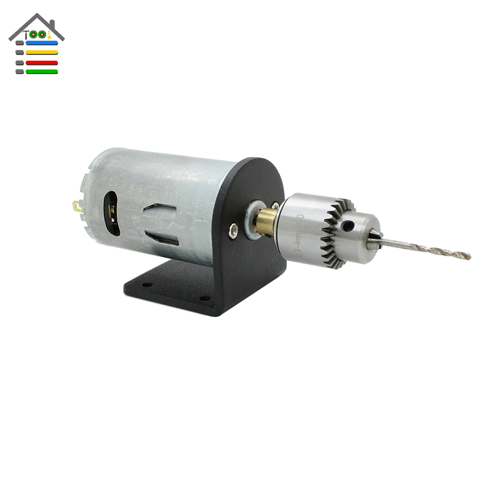AUTOTOOLHOME 12-24V Mini Electric Hand Drill DC Motor PCB Wood Drilling Twist Bits JT0 Chuck Taper Collet Bracket Power Tool new dc 24v 10000rpm 775 motor double ball bearings mini pcb hand drill press drill chuck 0 3 4mm jto miniature electric drill