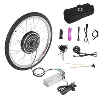 Professional 500W 36V Electric Bicycles E Bike 26inch Front Wheel Conversion Kit Powerful Cycling Brushless Motor Replace Set