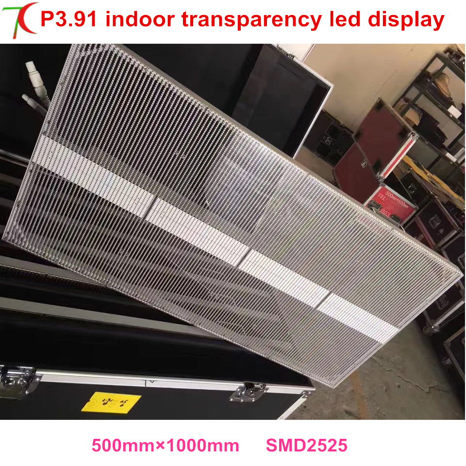 P3.91 indoor transparent curtain screen shinning debut to decorate your stores,shops or market