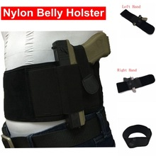 High Elastic Nylon Belly Band Pistol Gun Holster Höger / Vänster Hand Justerbar Belly Band Waist Holster Passar till Glock 17