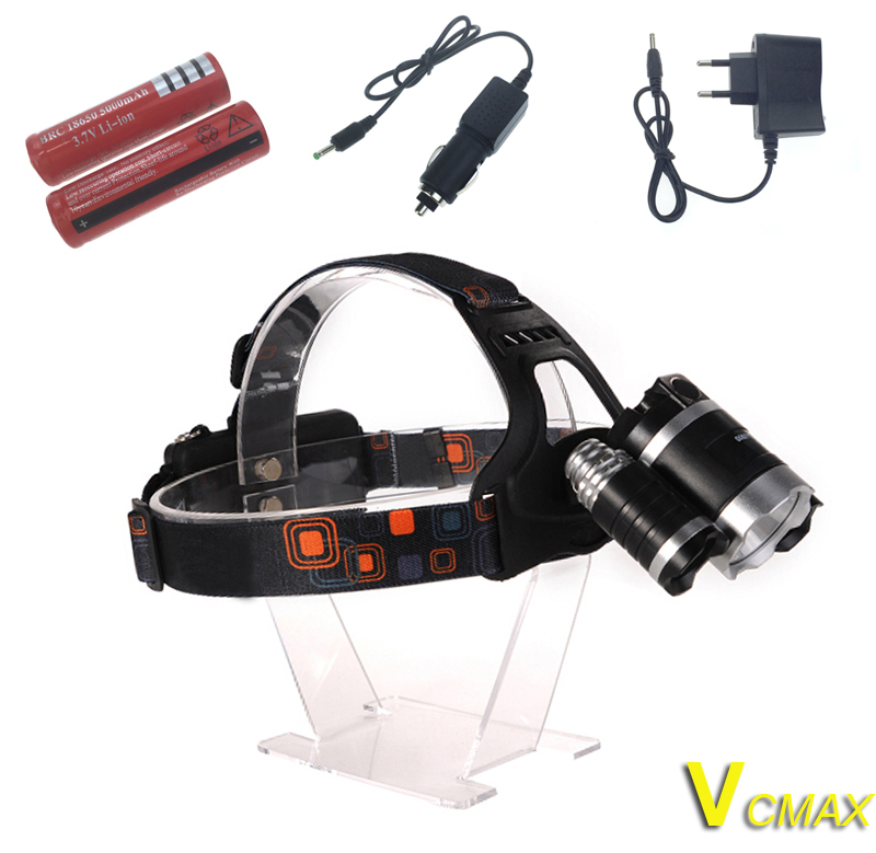 Led Spotlight Headlamp: VICMAX Waterproof Headlamp C XML T6R5 8000 Lumens 4 Mode