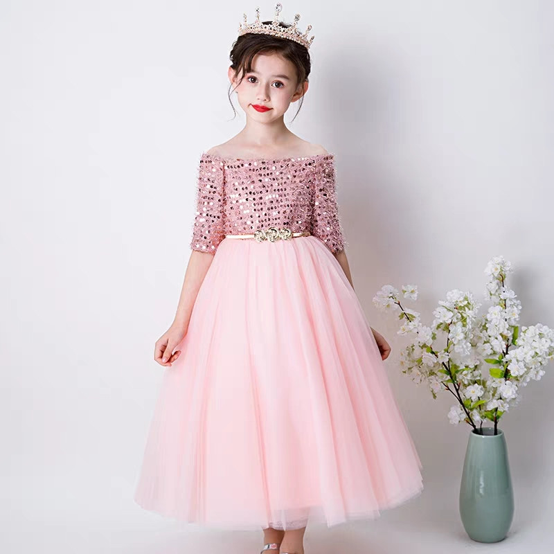 5~13Yrs Children Girls Sweet Pink Color Birthday Wedding Party Princess Prom Dress Kids Teens Fashion Sequined Piano Mesh Dress5~13Yrs Children Girls Sweet Pink Color Birthday Wedding Party Princess Prom Dress Kids Teens Fashion Sequined Piano Mesh Dress