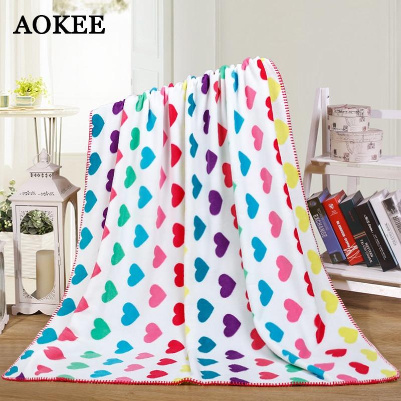 Warm Printed Blanket Super Soft Blanket Coral Fleece Bed Throw Blankets Multifunction Cartoon Pattern Home Hotel Blanket Gift