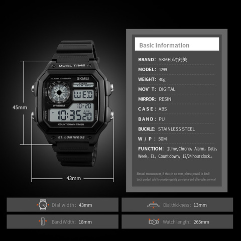 SKMEI LED Digital Watch Men Waterproof Alarm Chronograph Mens Watches Top Brand Luxury Sport Watches For Men Wristwatches Multan