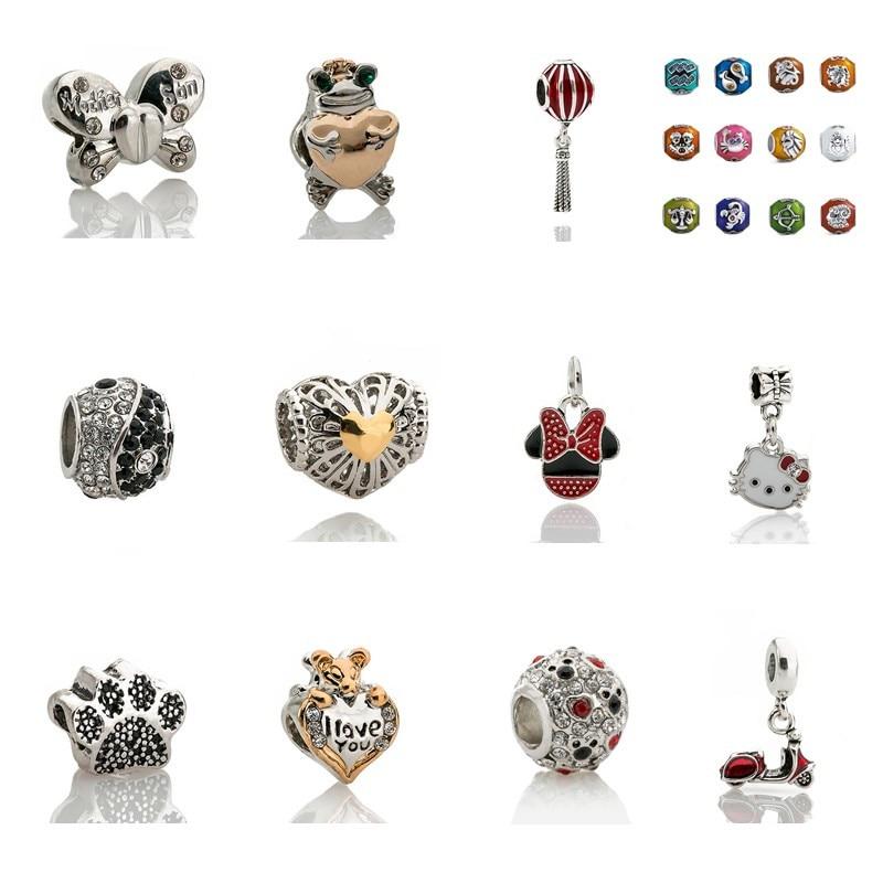 1 par Unicornio perlas de vidrio fabricación de joyería artesanía Modelo cabujones dibujos Animados Niños