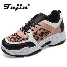 4245edf25a31 Fujin femmes chaussures semelles épaisses papas chaussures livraison  directe léopard-imprimé blanc chaussures femmes chaussures .