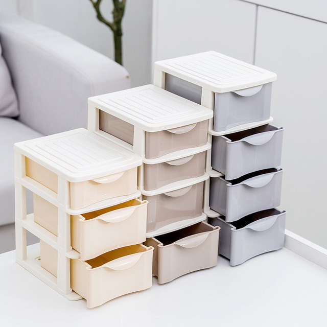 Plastic Cosmetic Drawer Makeup Organizer Makeup Storage Box Container Nail polish lipstick Holder Desktop Sundry Storage Case