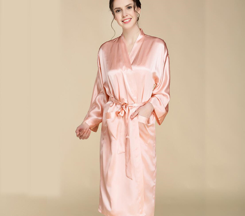 Silk Dressing Gowns Ladies: Women's Silk Pure 100% Dressing Gown Pure Mulberry Silk