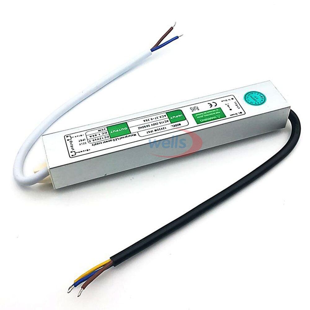 LED драйвер Ac dc 12V / 24V10W 15W 20W 25W 30W 36W 45W 50W 60W - Аксесоари за осветление - Снимка 3