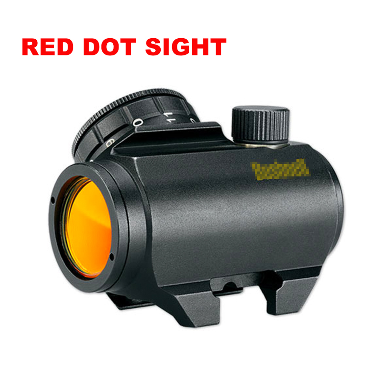 Trophy Rifle-Scope Sight Red Dot Black Lettering Reticle Trs-25 1X20 Gold HD 3MOA Matte