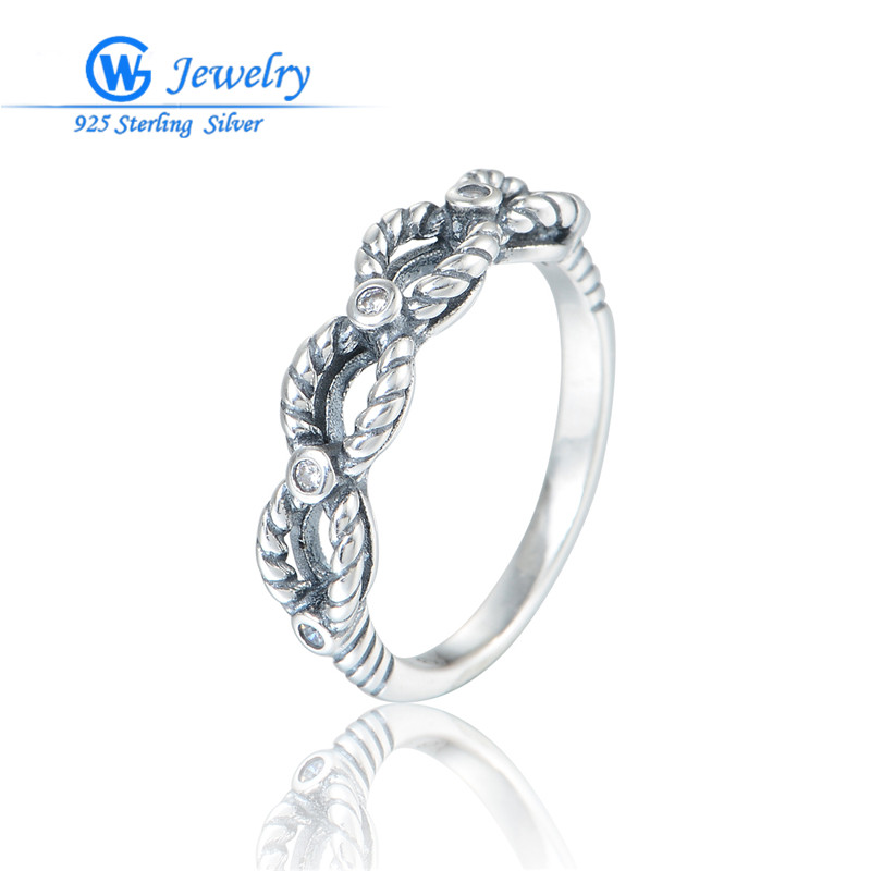Gw Fashion Jewelry Vintage Antique Sterling Ring 925 Silver Anel Pave De Zirconia Rings For Men & Women RIPY070H50