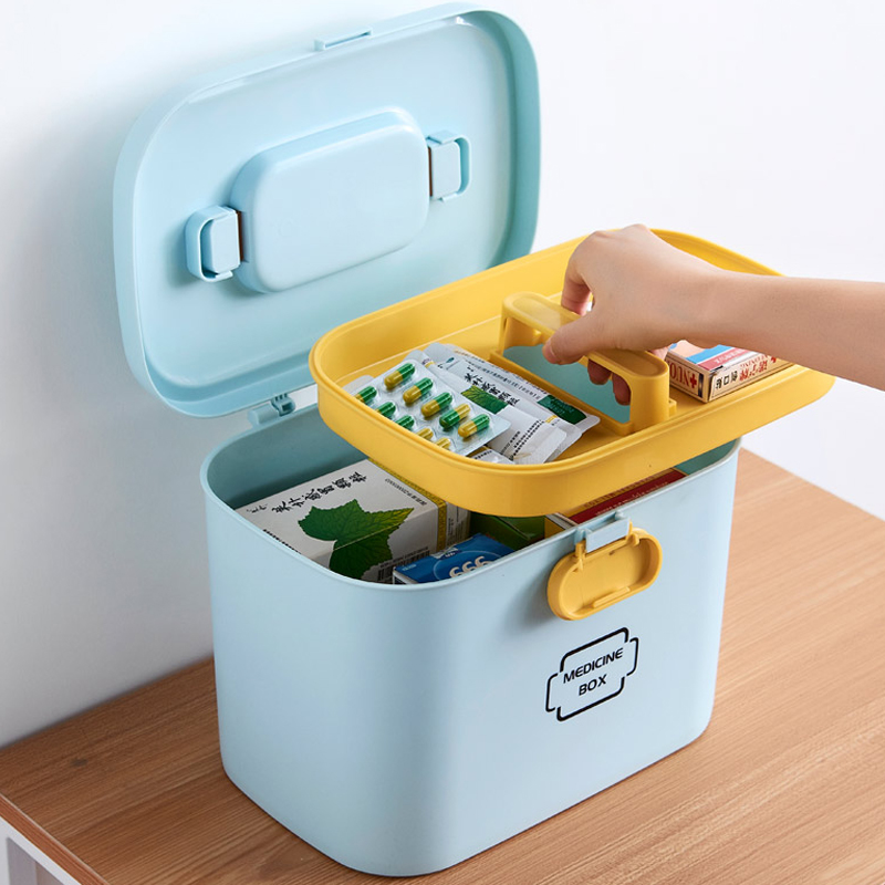 First Aid Kit Box Storage Organizer Large Medical Box Plastic Container Multi layer  Medicine Box Nordic Home Medicine Cabinet|Storage Boxes & Bins| |  - title=
