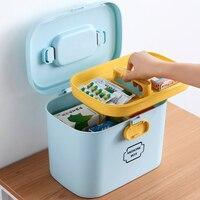 First Aid Kit Box Storage Organizer Large Medical Box Plastic Container Multi layer Medicine Box Nordic Home Medicine Cabinet