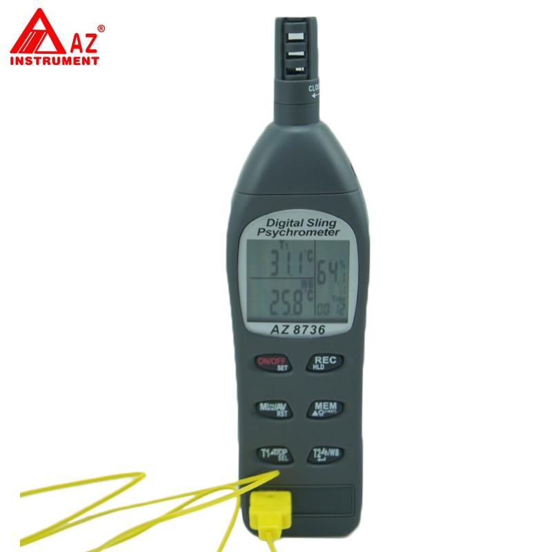 AZ-8736 Pocket Temperature/Humidity/Dew Point Meter/Wet Bulb Temperature and Humidity Tester az 8708 pen type hygro thermometer temperature and humidity tester