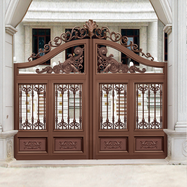High Quality Exterior Doors Jefferson Door: High Quality Red Brown Outside Gate, Security Aluminum