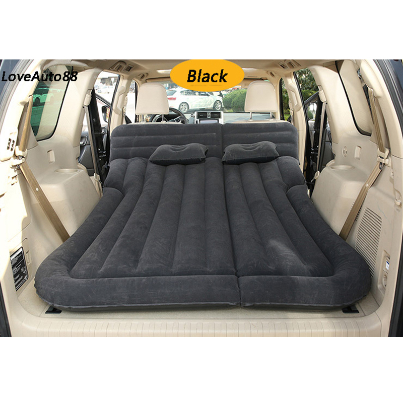SUV Inflatable Car Bed Air Mattress Outdoor Multifunctional Back Seat with Air Pump Travel Camping For Auto Air off road