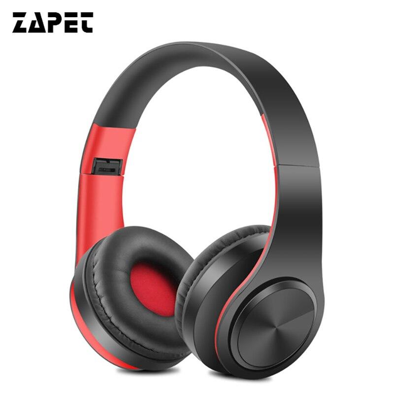 ZAPET Cuffie Bluetooth Auricolare Stereo Pieghevole Sport Auricolare Senza Fili con Microfono Handfree per iphone xiaomi phone