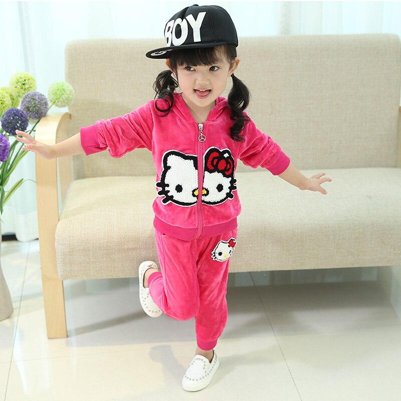 Juego del bebé 2015 otoño nueva 1 2 3 4 años de edad de los bebés femeninos  de manga larga traje de terciopelo de ropa para niños niñas en Sistemas de  la ... 95008700e764