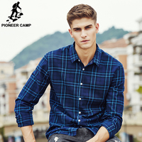 Pioneer Camp Spring Autumn Male Casual Shirt Men Brand Clothing High Quality 100 Cotton Long Sleeve